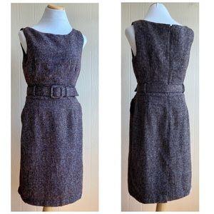 Banana Republic Tweed Belted Sleeveless Dress